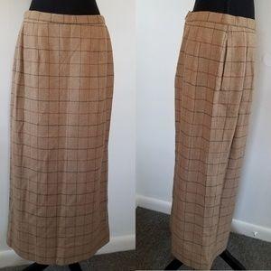 Pendleton 100% virgin wool full length skirt